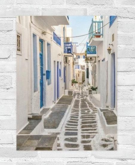 Mykonos Street with Balconies
