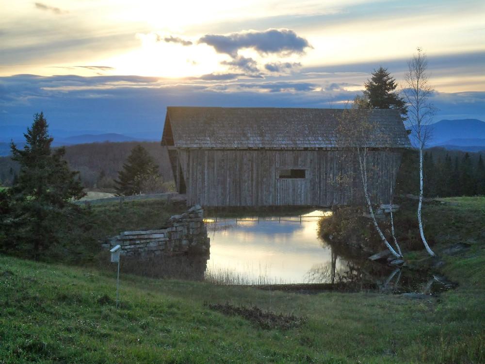The tiny Foster Bridge, Cabot, Vermont