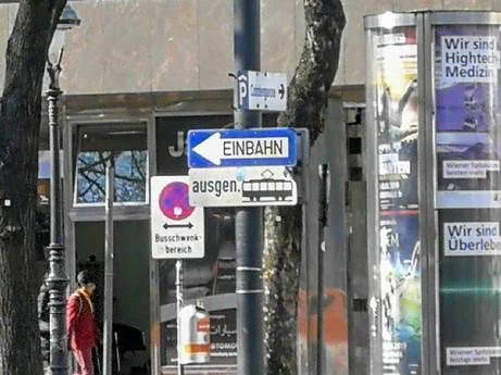 One Way Street Sign, Vienna, Austria