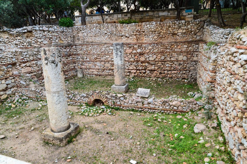 Roman Ruins around Athens, Greece