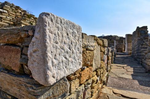 Beautiful stonework, Delos, Greece