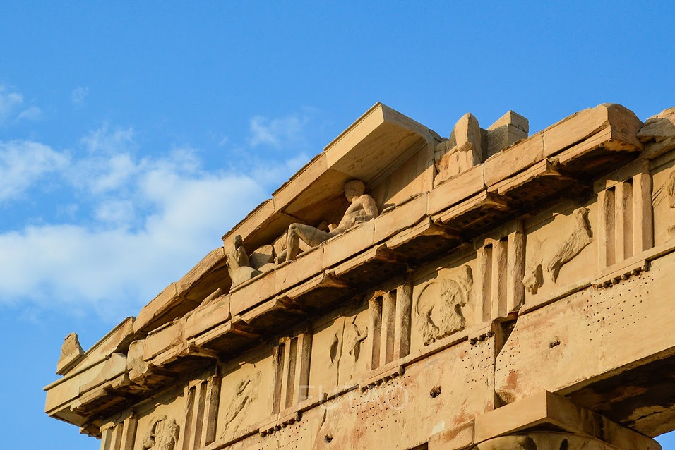 Detail on the Ancient Agora, Athens, Greece
