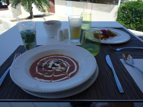 Tortilla Soup at the pool-side restaurant at Beloved Playa Mujeres