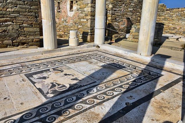 Mosaic floor, House of Dionysus, Delos, Greece