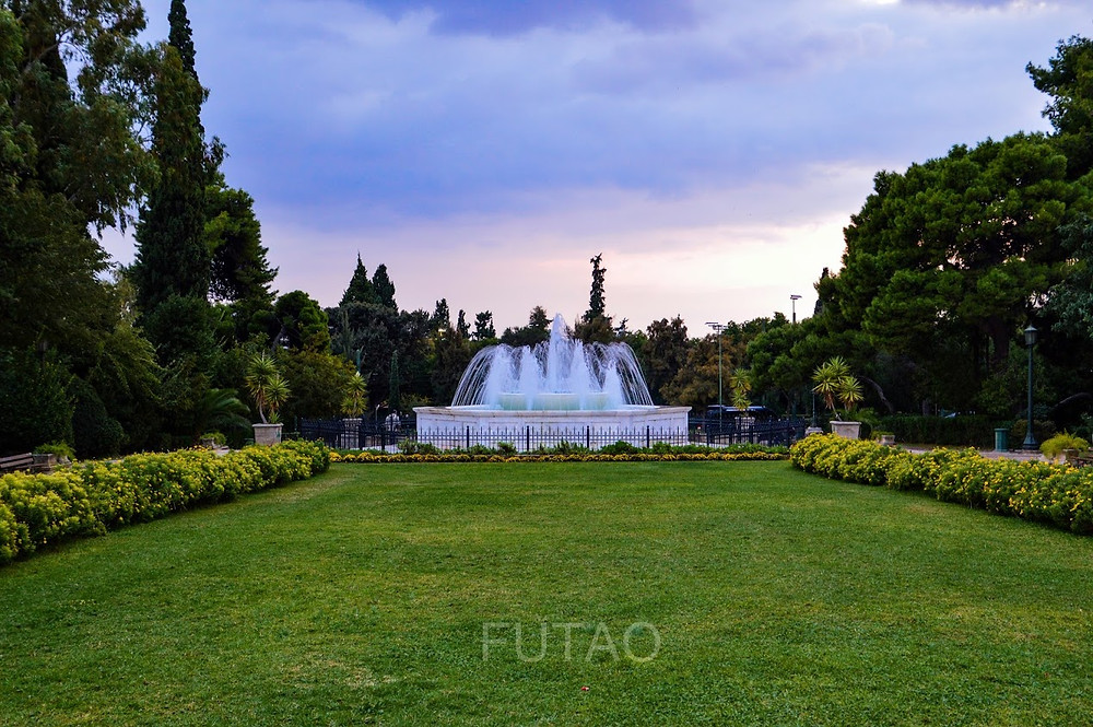 The Gardens and Fountains of the Zappeion, Athens, Greece