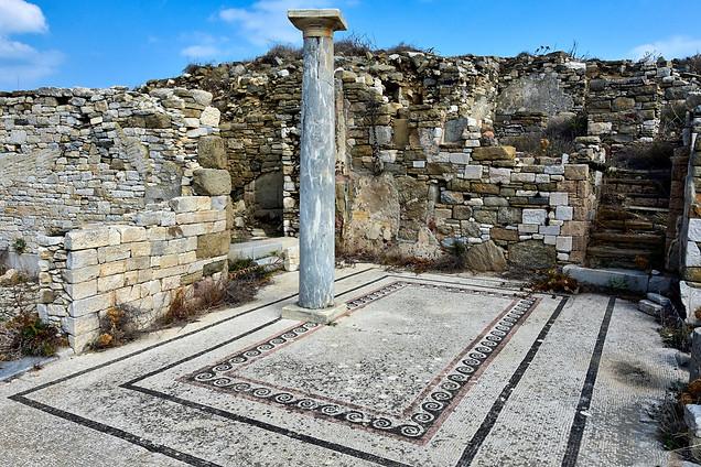 Mosaic floor, Delos, Greece