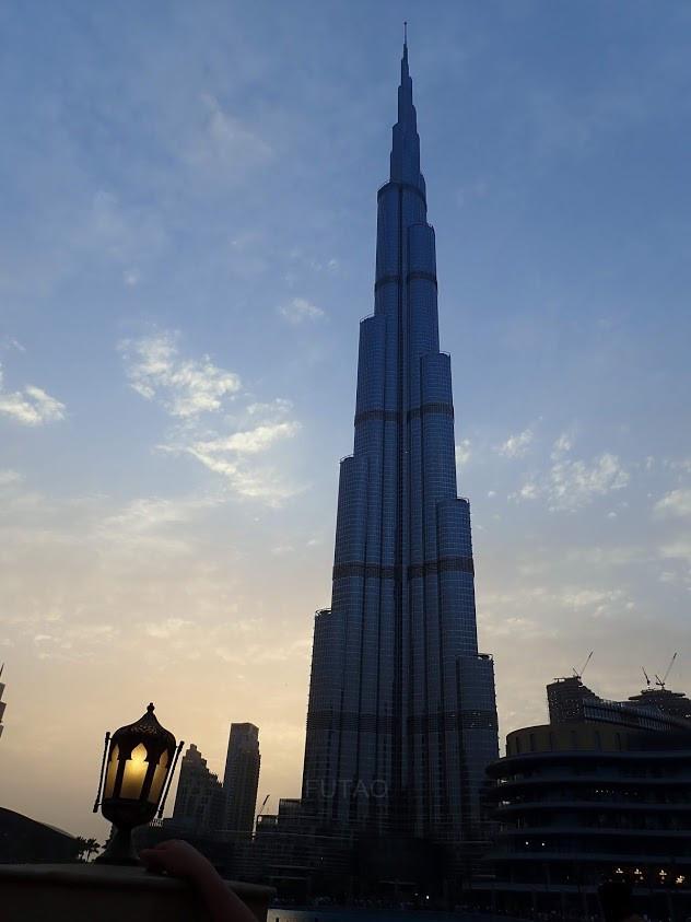 The Burj Khalifa at sunset, Dubai, UAE