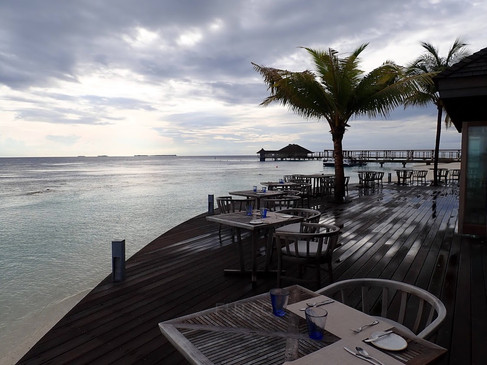 Hurawahli Resort Restaurant: after the rain