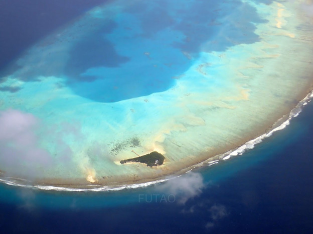 Atoll from Sea Plane