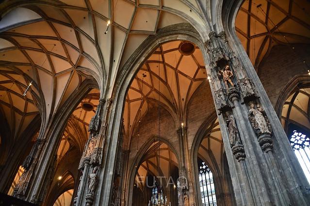 Inside St. Stephen's Cathedral, Vienna, Austria