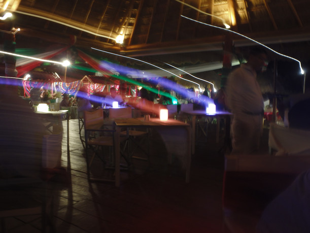 Night fiesta on Beloved Playa Mujeres Beach