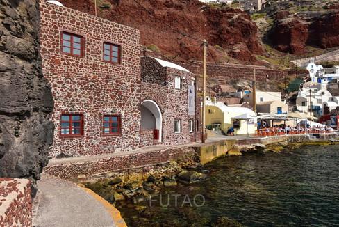 Ammoudi Bay restaurants, Santorini, Greece
