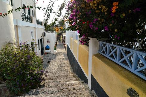 The streets of Oia, Santorini, Greece