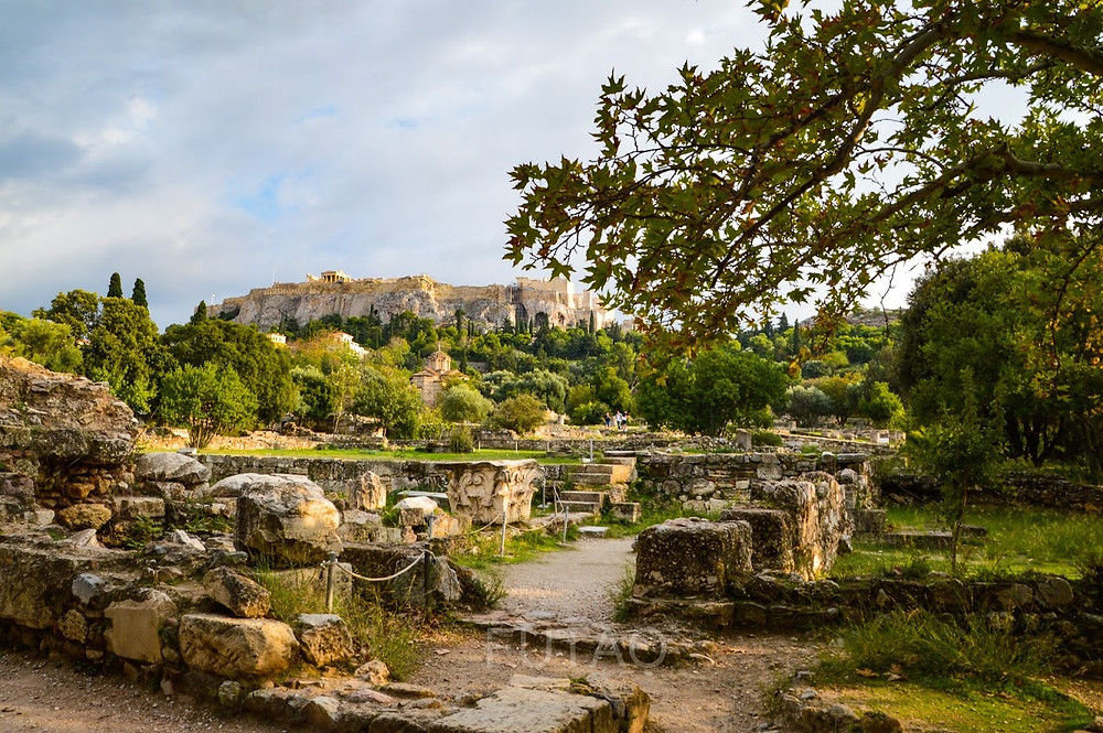 The grounds of the Ancient Agora, Athens, Greece