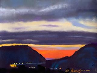 Gypsum Canyon Sunset