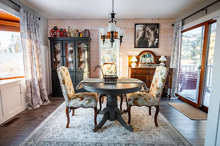 Antique styled dining room