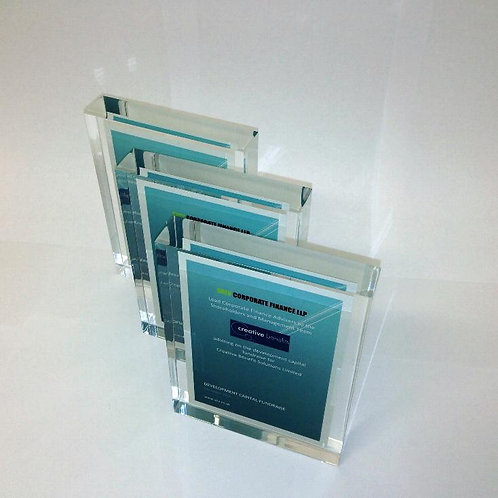 Clear Acrylic Rectangle Deal Toy With Card to Centre