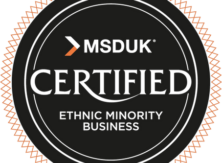 We are an Ethnic Minority Owned Business!