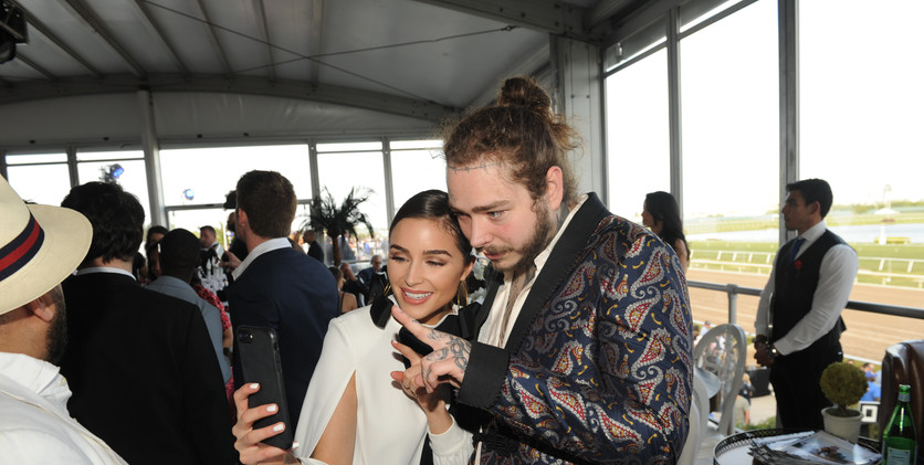 Olivia Culpo & Post Malone taking selfie