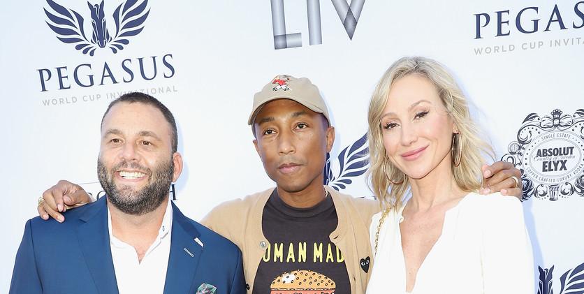 David Grutman, Pharrell Williams and Bel