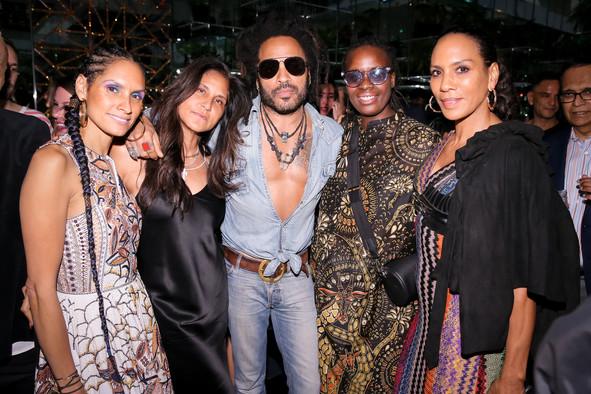 Racquel Chevremont, Lenny Kravitz, Mickalene Thomas, Barbara Becker.jpg