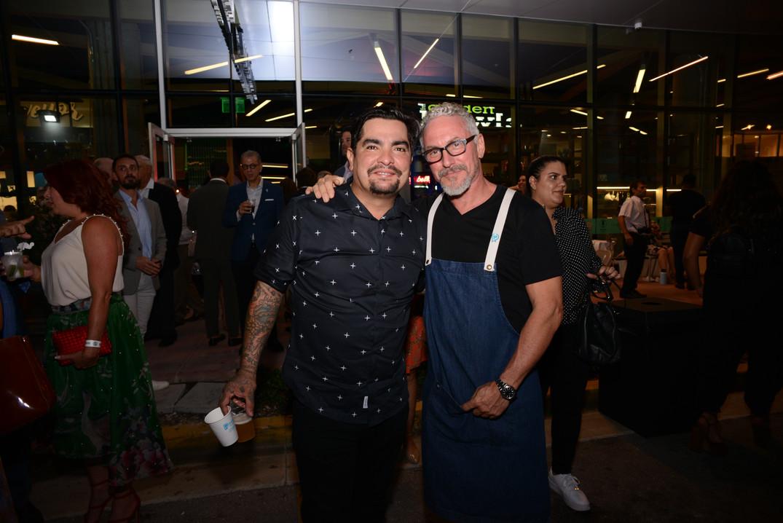 Aaron Sanchez, Michael Schwartz.JPG