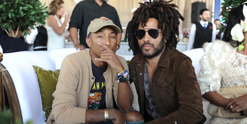 Pharrell Williams & Lenny Kravitz at the