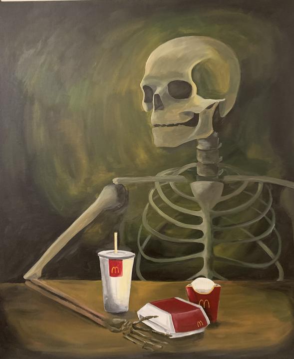 I'm Lovin' It, 38x28 in., acrylic on canvas, 2021