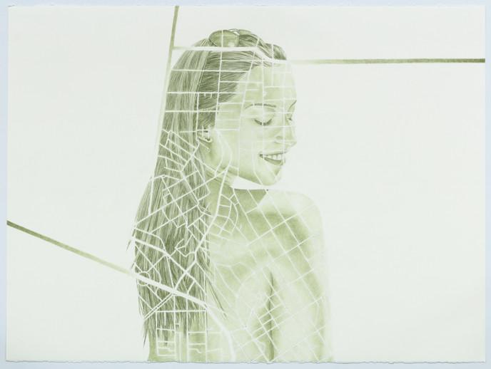 Sophia at Vila Madalena and São Caetano do Sul, coloured pencil on paper, 57 x 76.5 cm, 2021