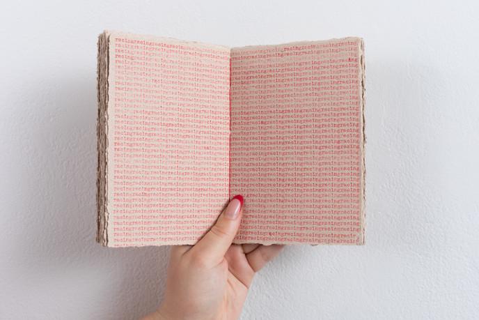 Racing, handmade book 4.25 x 7 in., 2021