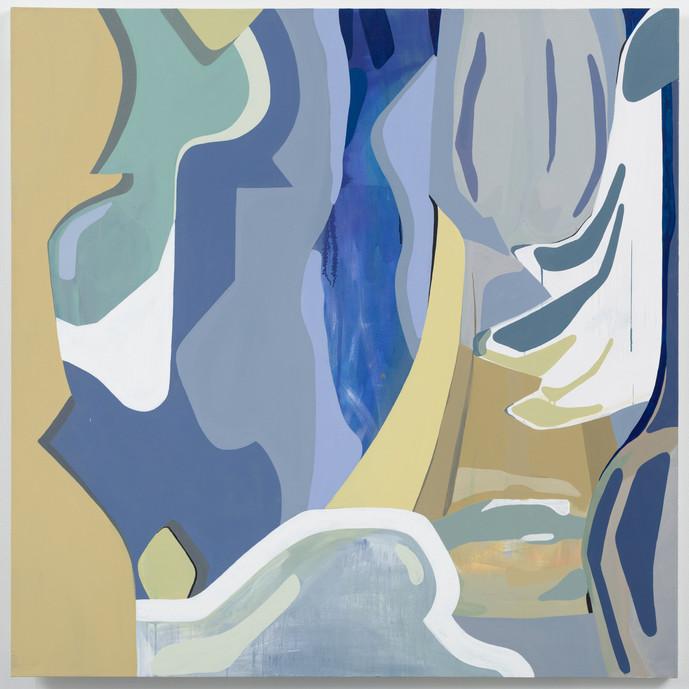 Dazed, acrylic on canvas, 60 x 60 in., 2021