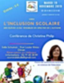 Conférence Christine Philip, Dinan, autisme, autisme ouvrons la bulle