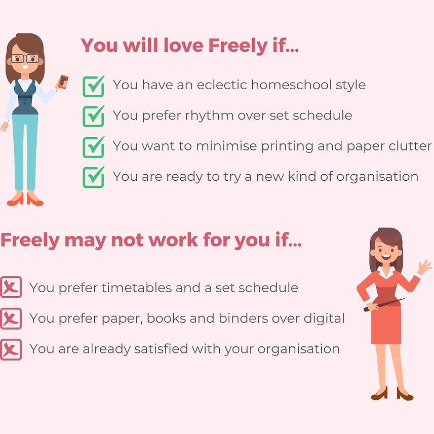 Reasons you will love Freely homeschool planner app