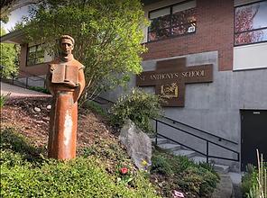 St. Anthony statue at SAS