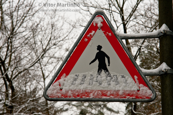 """Danger: snowy crosswalks"""