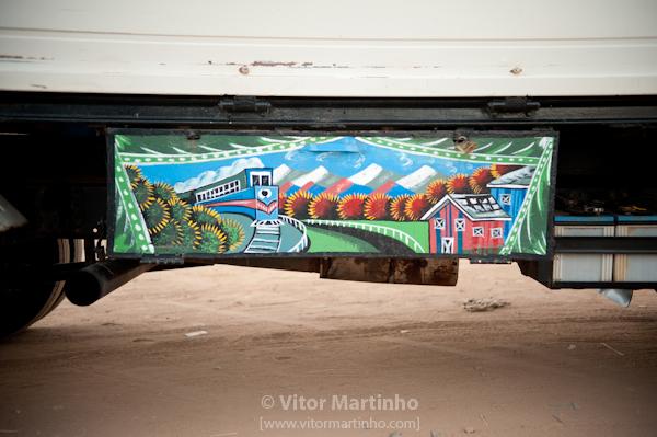 """Truck handmade paint"""