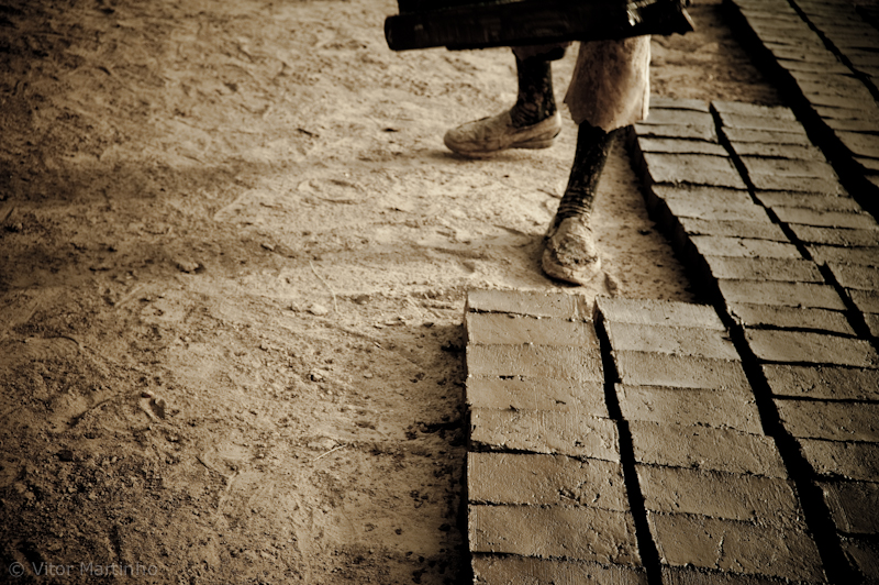 To build a country with adobe bricks