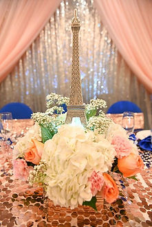 Eiffel Tower floral centerpiece