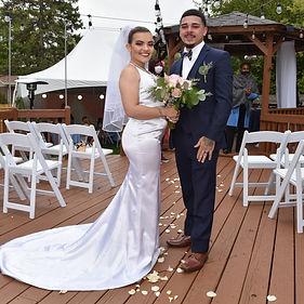 Micro backyard wedding