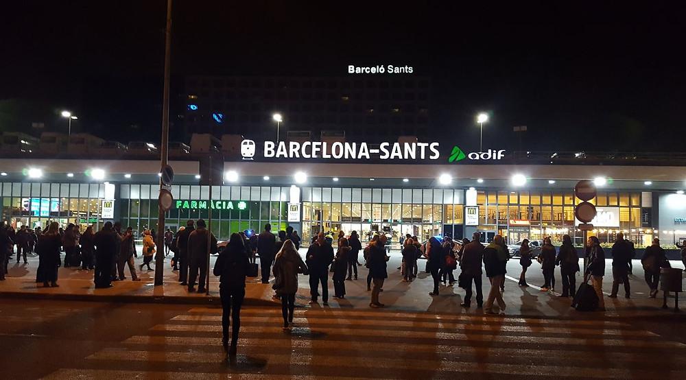 Alarme bomba en la estación de Sants Barcelona