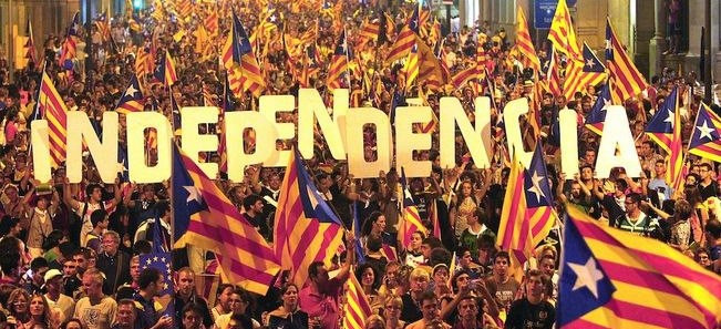Indipendenza Catalogna - Sciopero e manifestazione a Barcellona