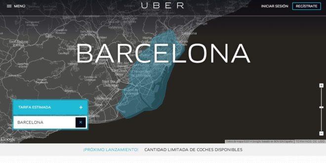 Uber torna a Barcellona con il servizio di taxi Uber X