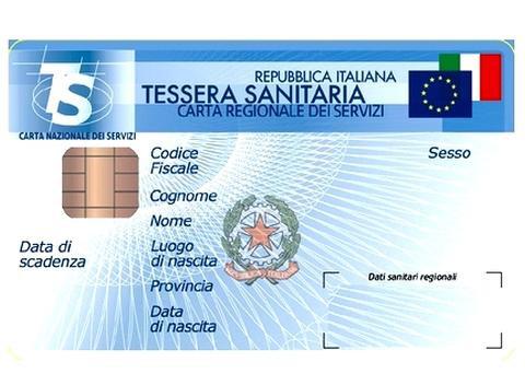 Tessera sanitaria italiana europea da mostrare in Spagna per l'assistenza sanitaria