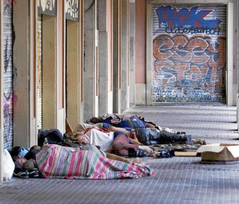 Indigentes muertos en Barcelona