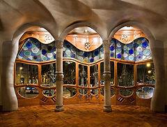 Casa Batlló Gaudì interno Barcellona