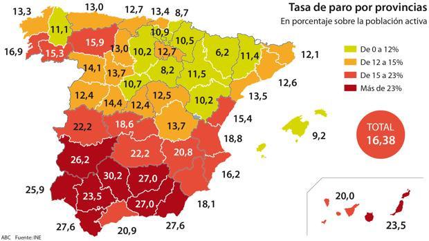 Dati percentuali disoccupazione a Barcellona e in Spagna