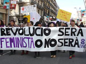 """Barcellona celebra il """"dia internacional de la mujer"""""""