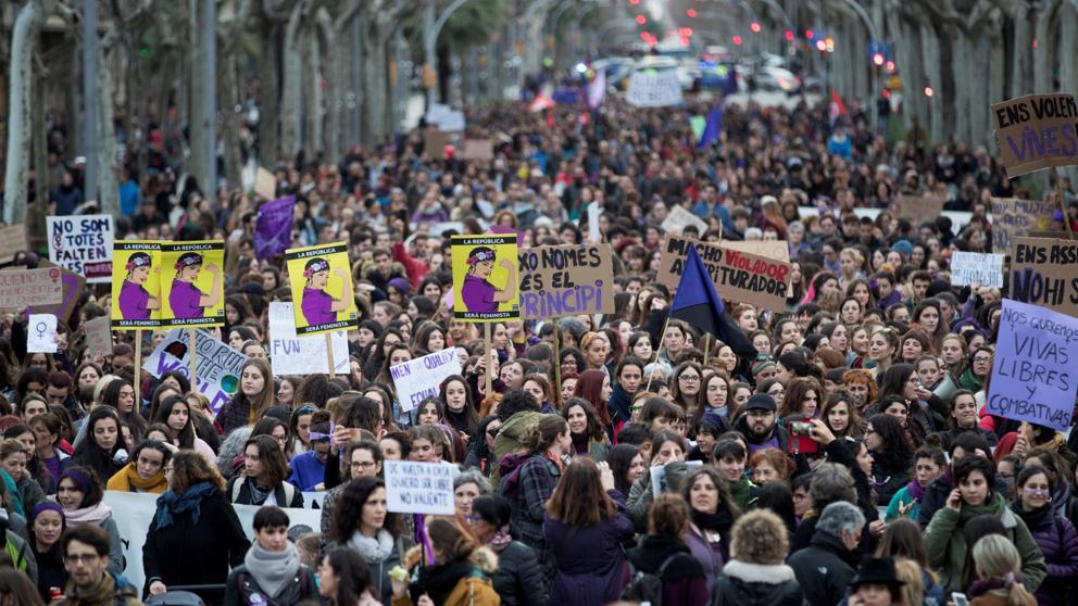 8 Marzo - Dia de la mujer en Barcelona