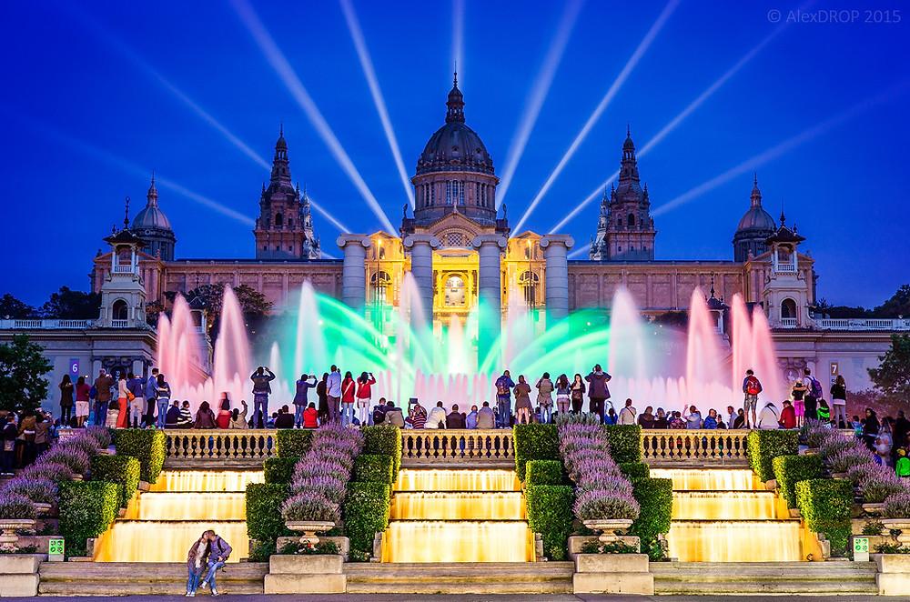 Fontana magica di Montjuic - Italiani a Barcellona