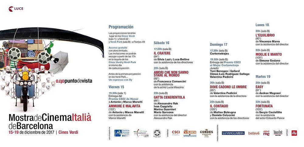 Programma mostra del cinema Italià de Barcelona - Italiani a Barcellona